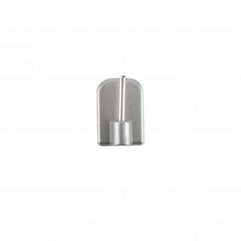 Gancio adesivo Argento (4 pz)