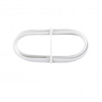 Cable plastifié Blanc 1m