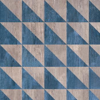 Croma Wood Geom Blu